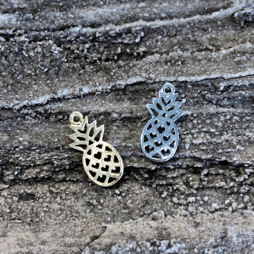 Tiny Pineapple Charm - Sterling Silver