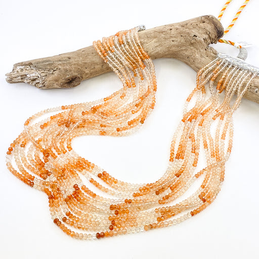 Oregon Sunstone 11- Strand Necklace