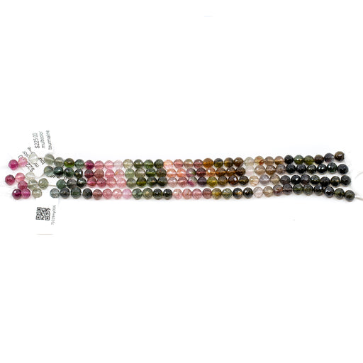 Multicolor Tourmaline Strand -5.5mm Faceted Round