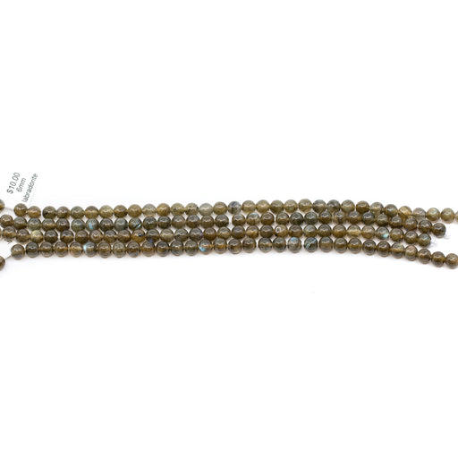 Labradorite Strand - 6mm Smooth Round