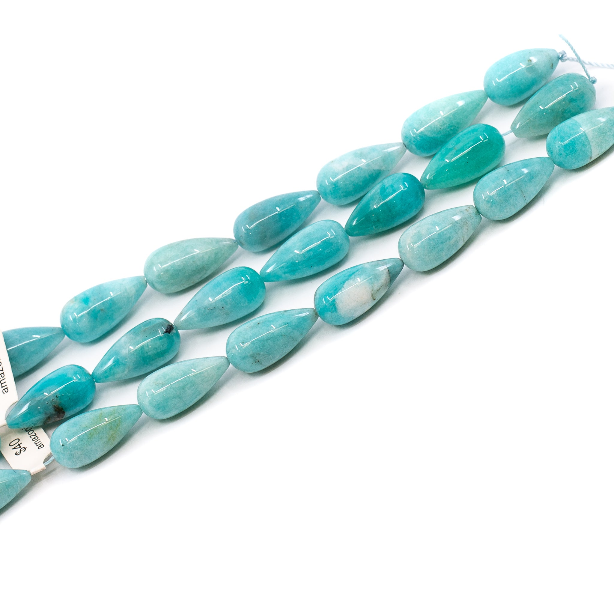 Amazonite Strand - Long Drill Drop
