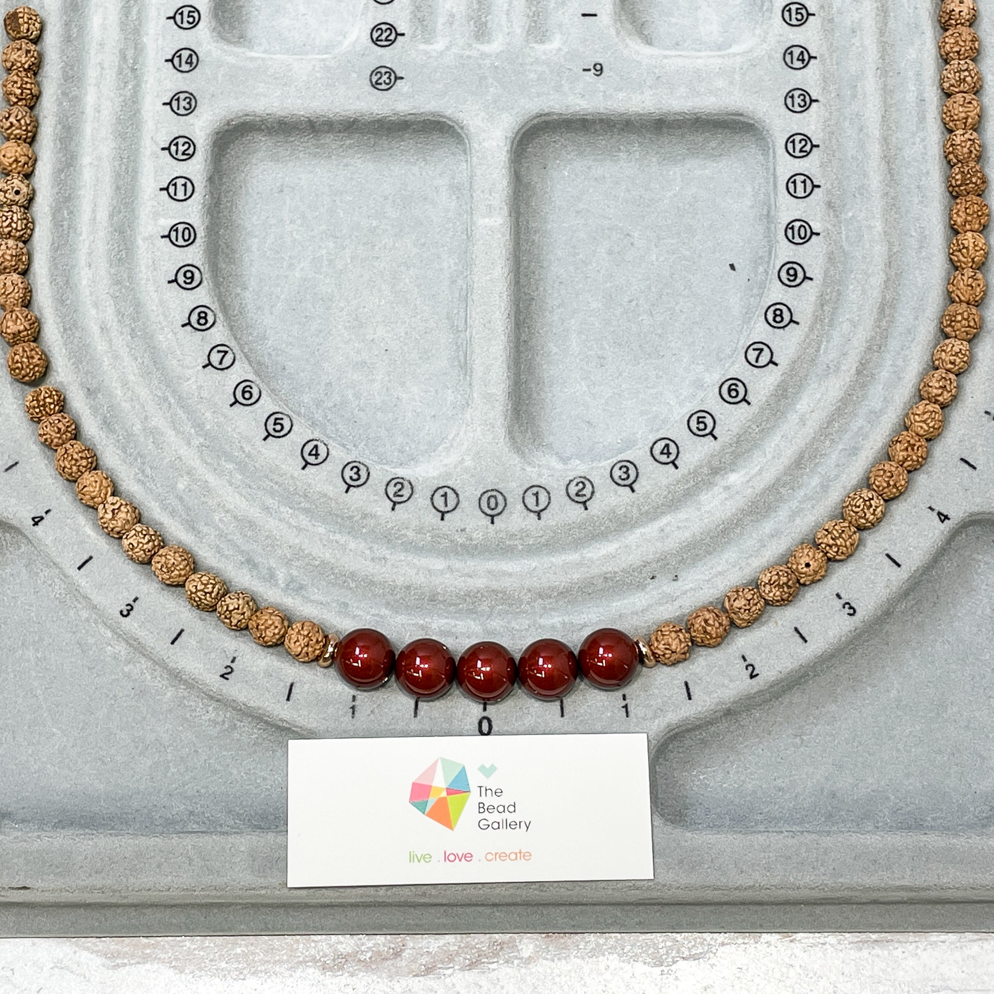 Valentine's Pearl and Wood Necklace Kit