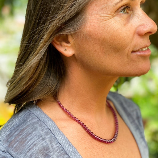 Simple Garnet Necklace