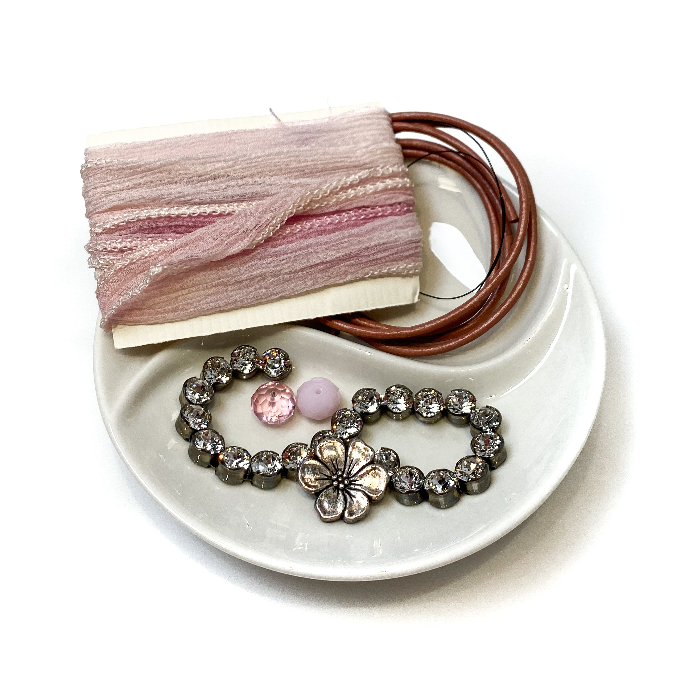Silk Road Bracelet Kit - Powder Pink