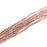 3mm Rustic Square Spacer Strand - Copper Plated Brass