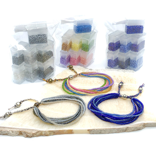 11/0  Seed Bead Color Block Mixes