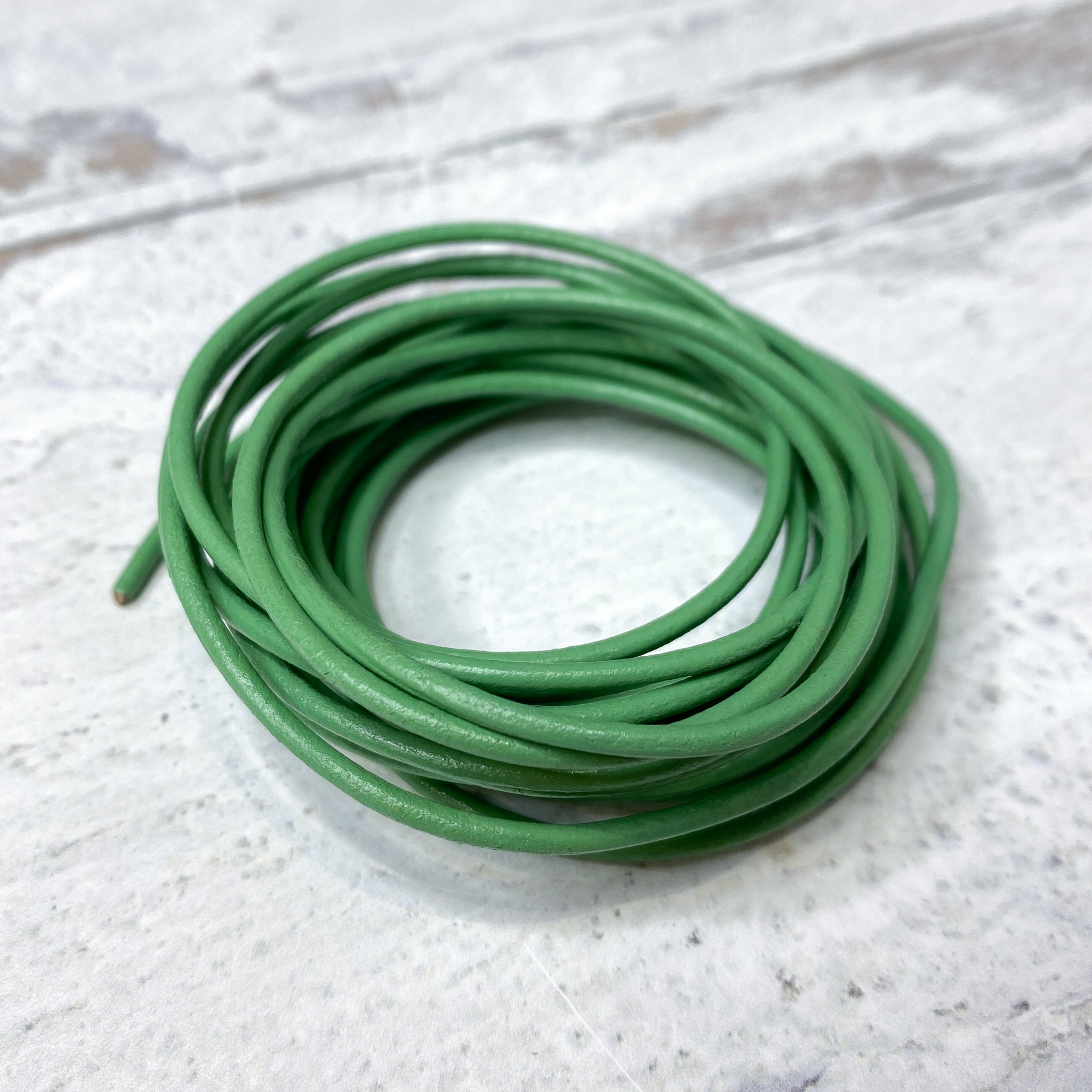 Leather Cord - 2mm Spring Green (10 ft.)