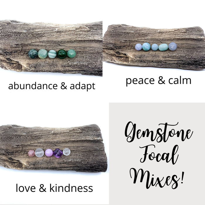 Focal Gemstone Mix (5 pc. package)