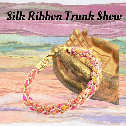 "Hand-Dyed ""Mermaid"" Silk Ribbon - TRUNK SHOW"