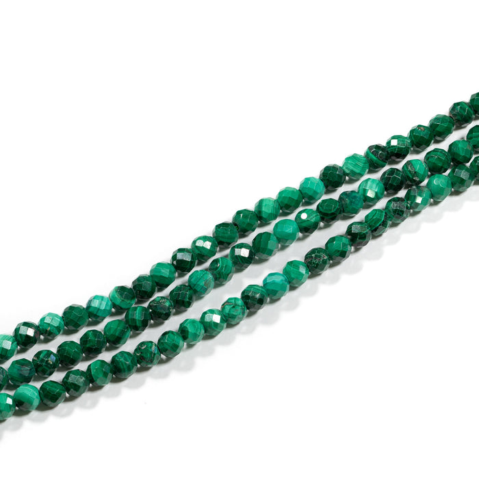 Malachite Strand - 4mm Faceted Round