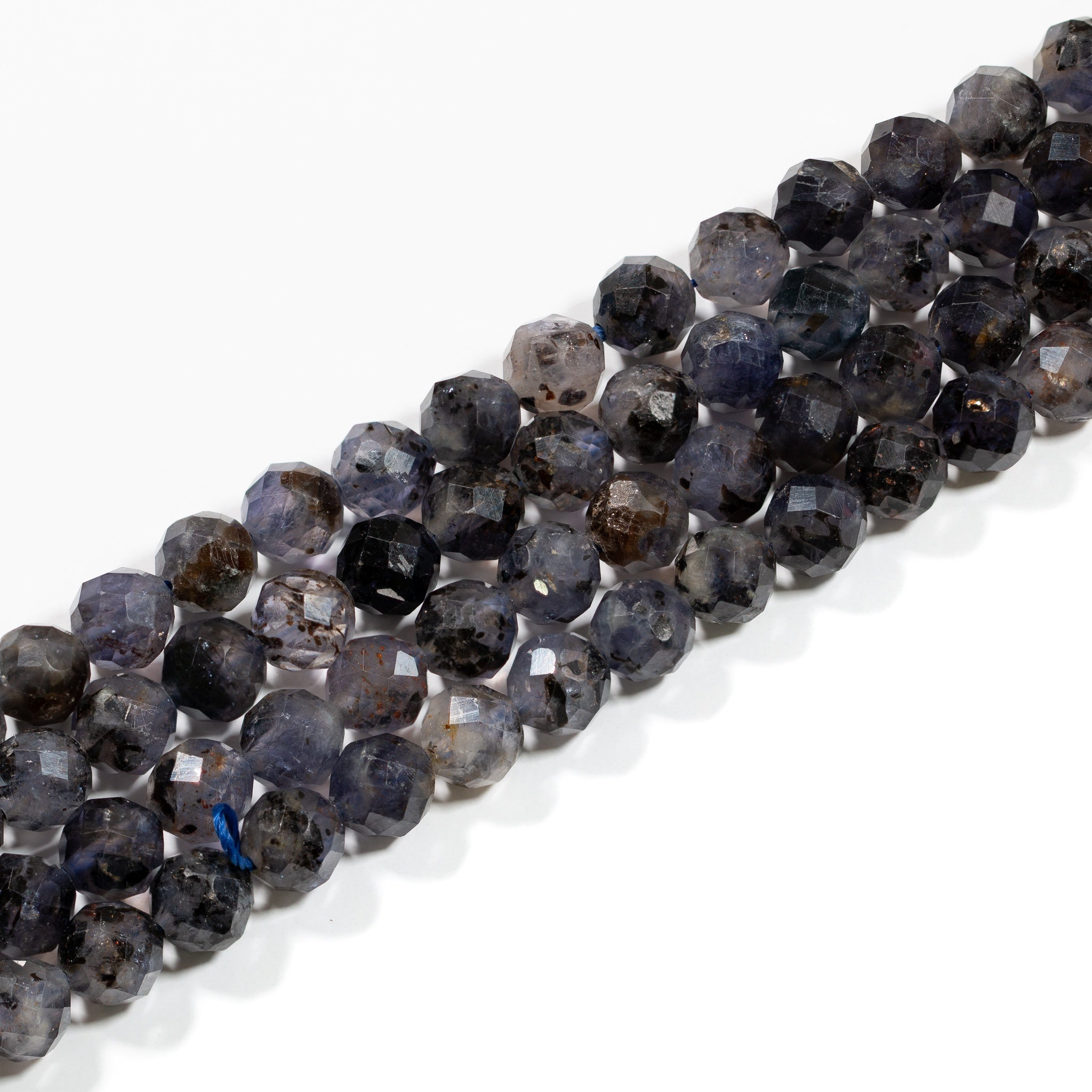 Iolite Strand - 6.5mm Faceted Round