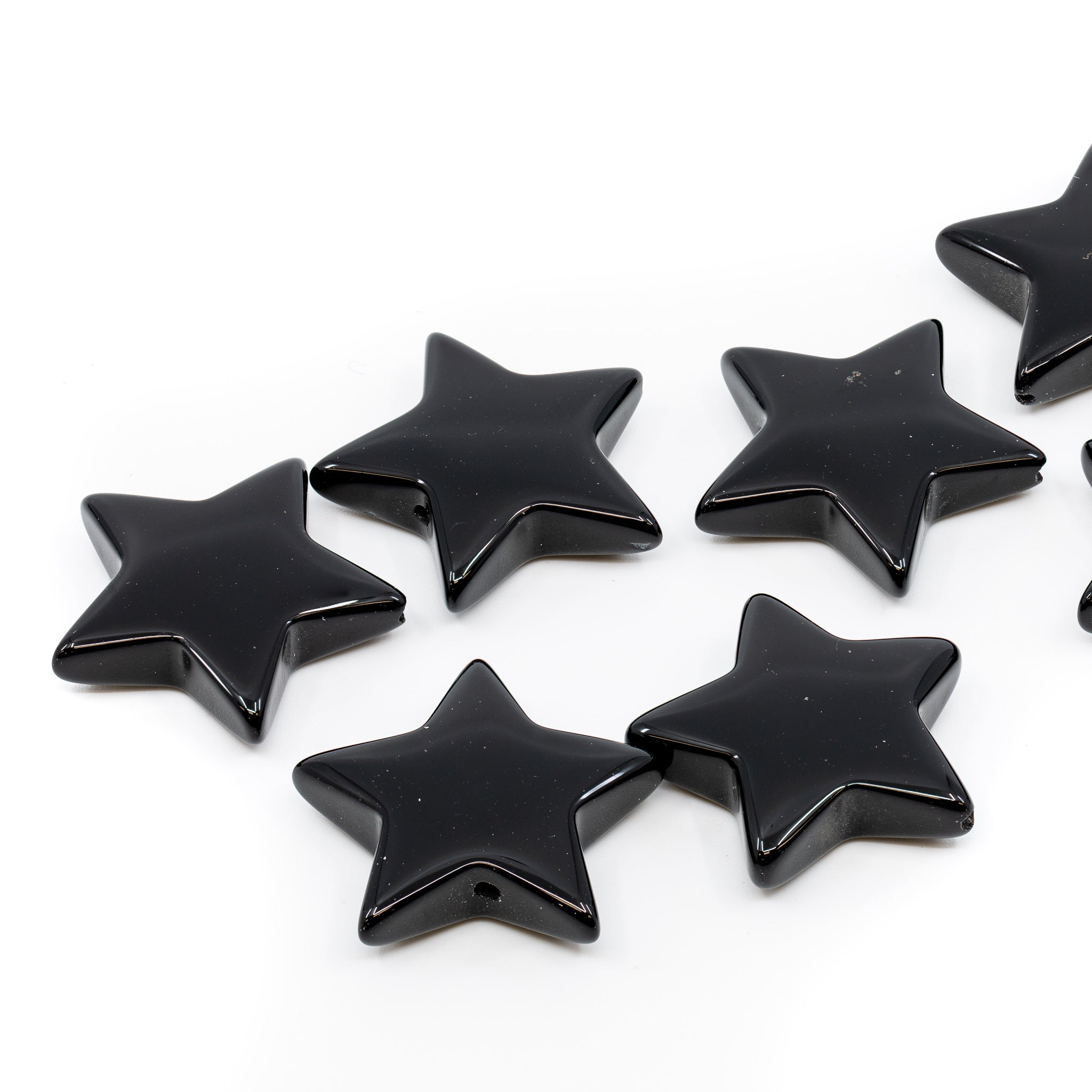 Black Onyx Star Bead - 1""
