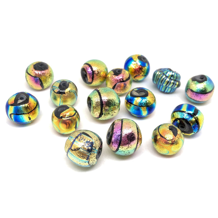 Dichroic Lampwork Beads by Calvin Orr
