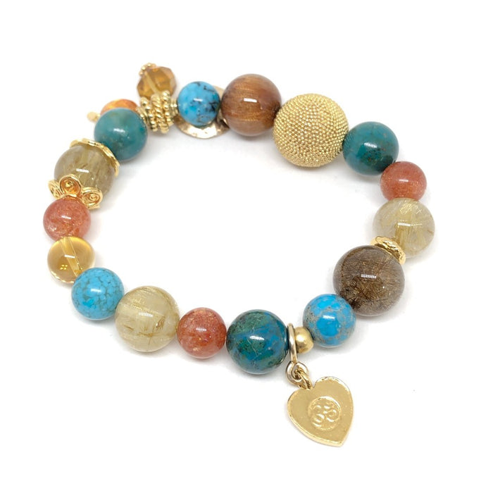 Have Courage & Kick Ass Gemstone Bracelet