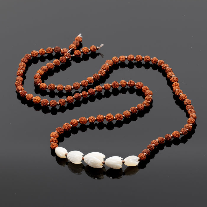 MADE TO ORDER: Pikake & Small Rudraksha Long Necklace Kit