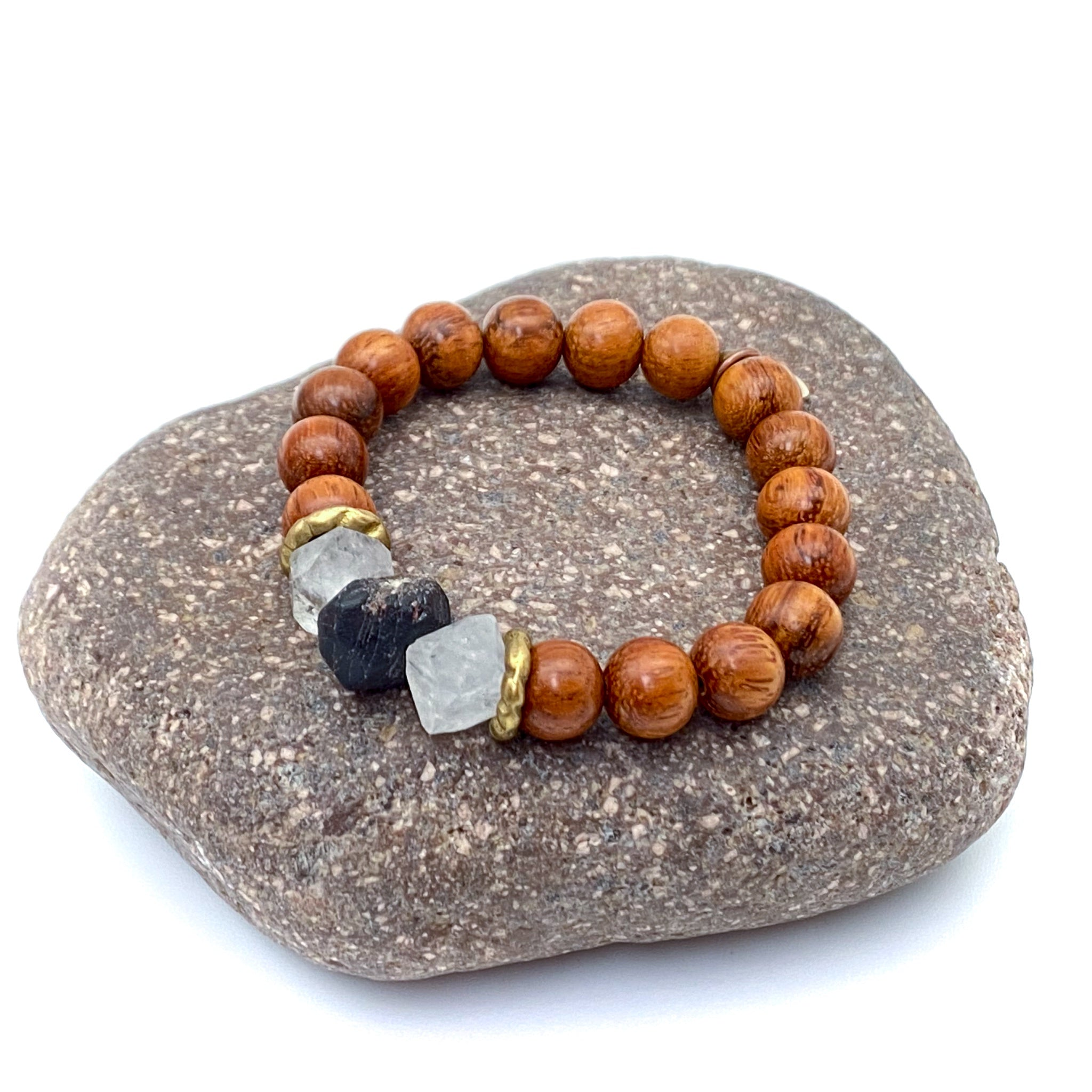 Strength Bracelet Kit - Garnet & Herkimer Quartz