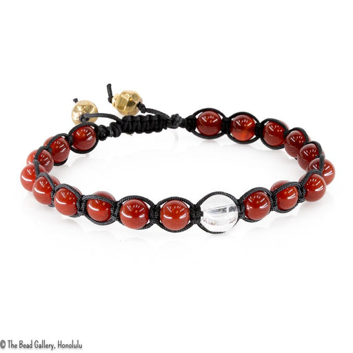 Feng Shui Sliding Knot Bracelet Kit - 6mm Red Agate