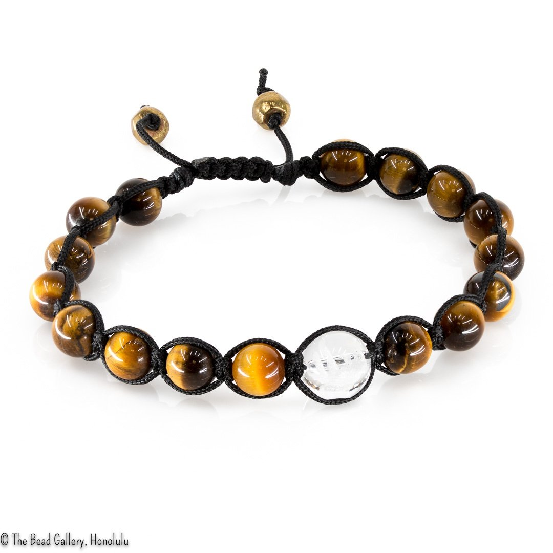 Feng Shui Sliding Knot Bracelet Kit - 8mm Tiger Eye