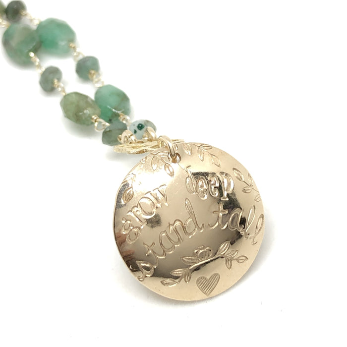 Grow Deep, Stand Tall Necklace