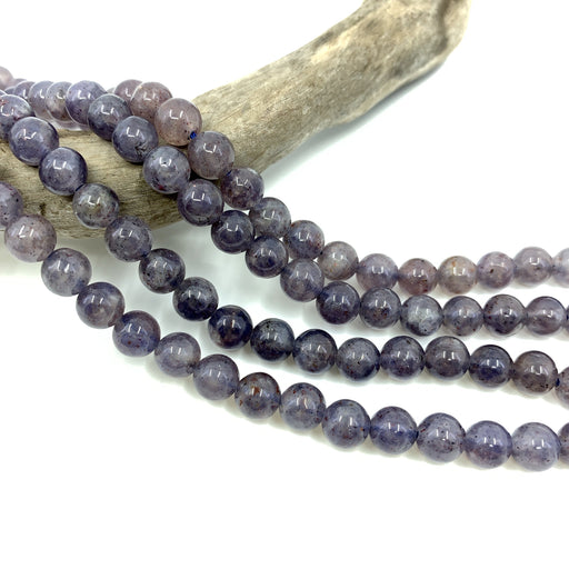Iolite Strand - 6mm Smooth Round