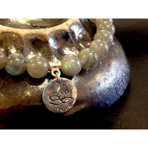 Lotus Round Charm - A Bead Gallery Exclusive