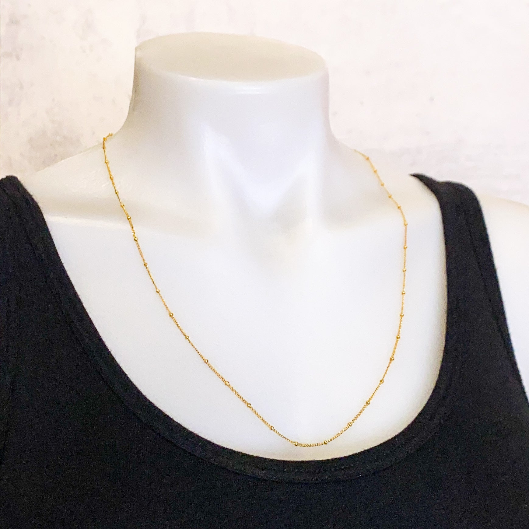 "24"" Finished Satellite Chain - Gold Filled: 1 piece"