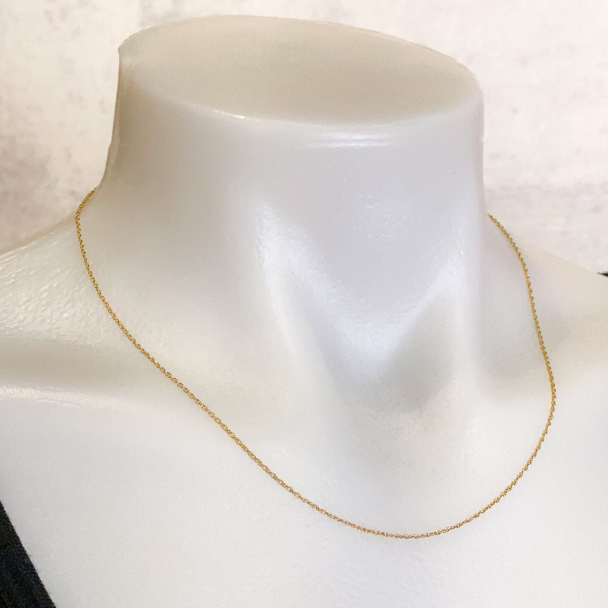 "18"" Fine Rope Finished Chain - Gold Filled: 1 pc."