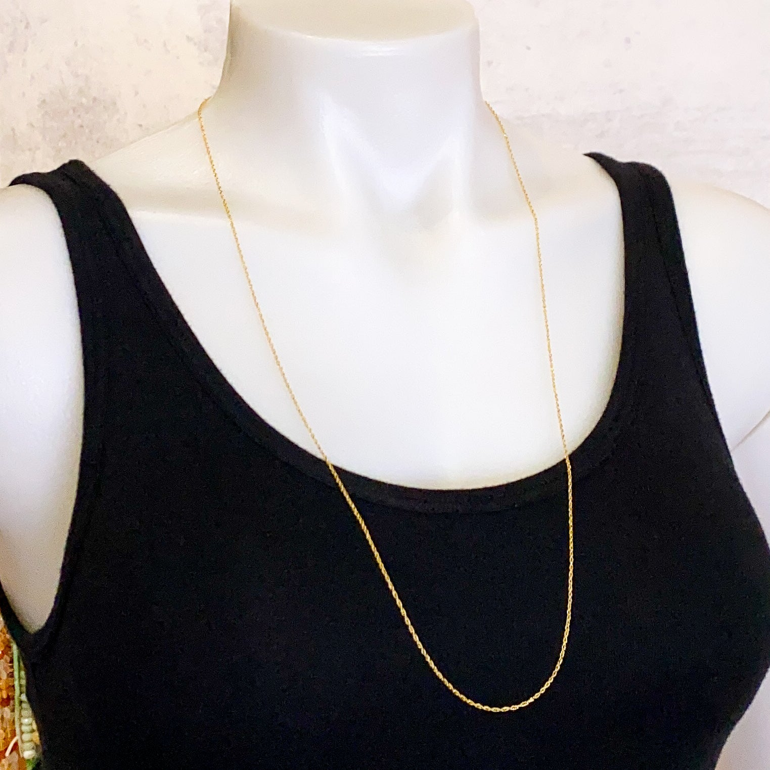 "30"" Fine Rope Finished Chain - Gold Filled: 1 piece"