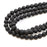 "8mm Black Lava Round - 16"" Strand LARGE HOLE"
