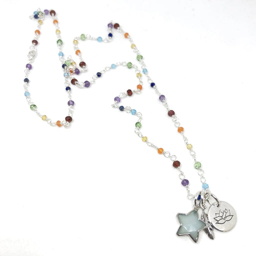 Rainbow Gemstone Necklace - BALANCE YOUR LIFE