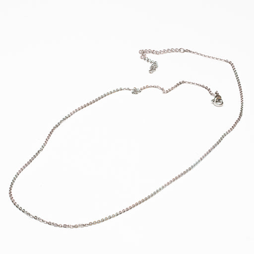 "Stainless Steel Necklace Chain: 18 - 20"" Adjustable"