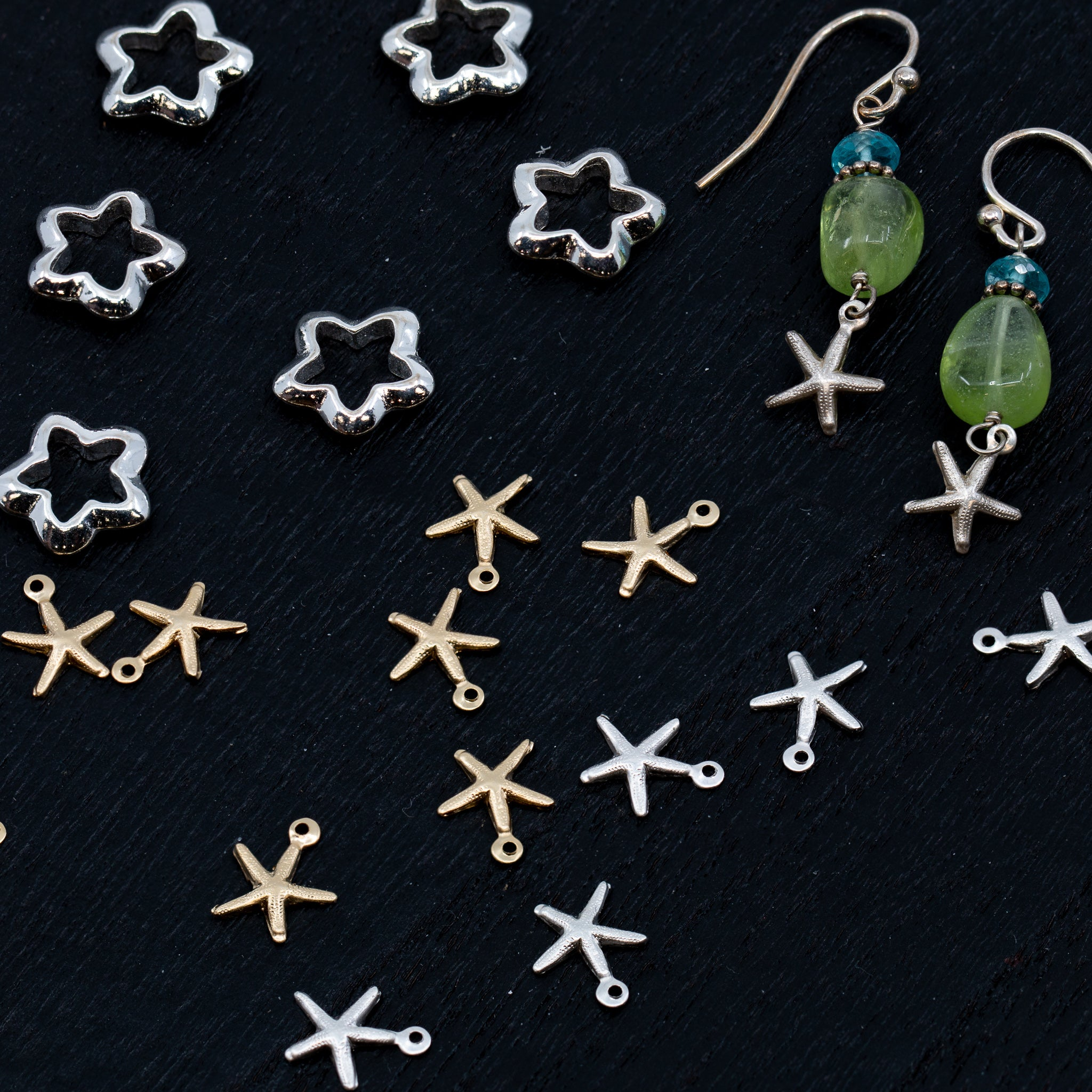 Bitty Seastar Charms - Sterling Silver (12 pc. pack)