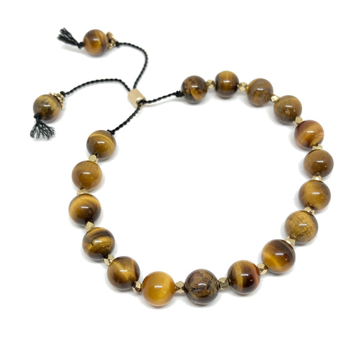 Tiger Eye Silicone Slide Adjustable Bracelet KIT - Makes 2 bracelets