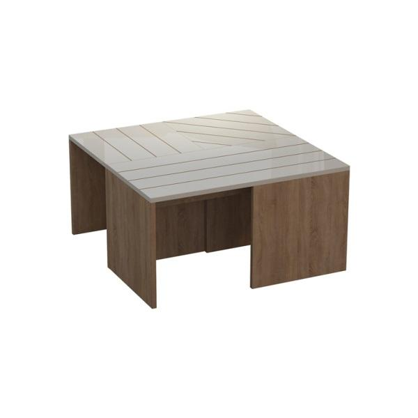 Cameron Coffee Table-Coffee Table-Ada Home Decor-Oak & White-authenturkish