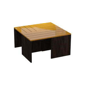 Cameron Coffee Table-Coffee Table-Ada Home Decor-Dark Brown & Mustard-authenturkish