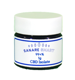 Sanare Smart 99% Pure CBD Isolate Powder/Crystals 1g