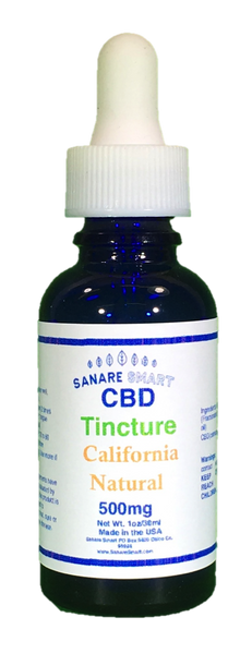 Sanare Smart California Natural CBD Tincture 500mg