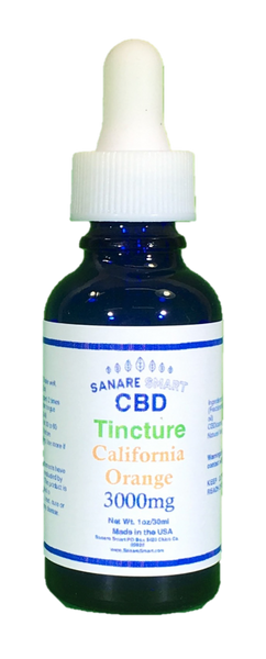 Sanare Smart California Orange CBD Tincture 3,000 mg