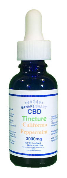 Sanare Smart California Peppermint CBD Tincture 3,000mg