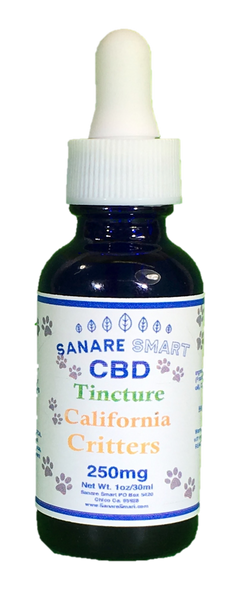 Sanare Smart California Critters Pet CBD Tincture 250mg