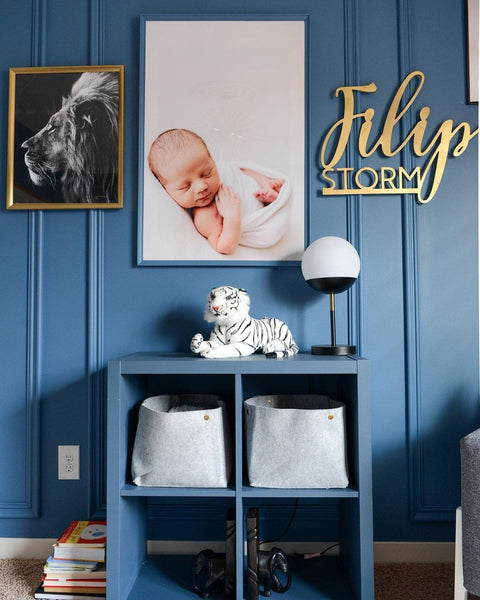 blue nursery accents