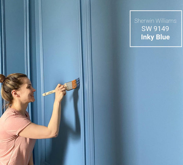 Sherwin Williams inky blue color