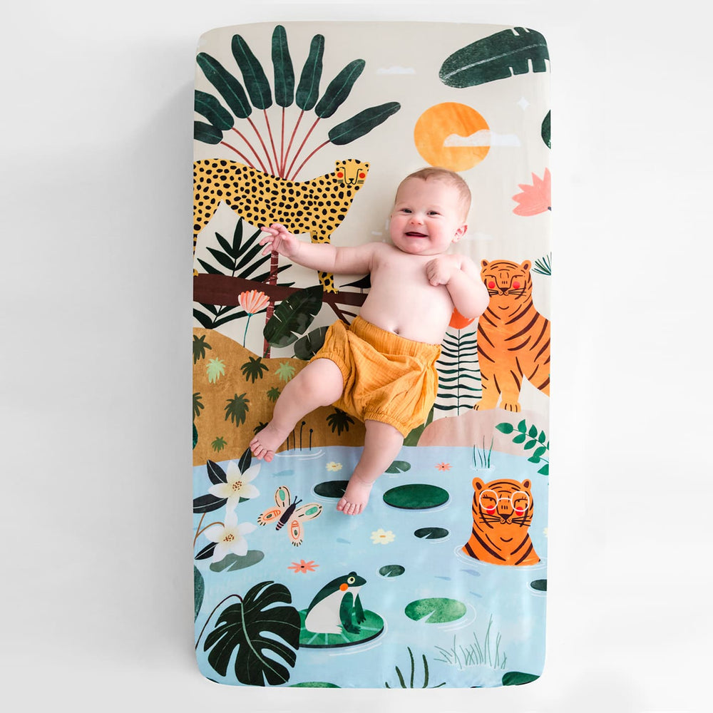 In The Jungle Standard Size Crib Sheet