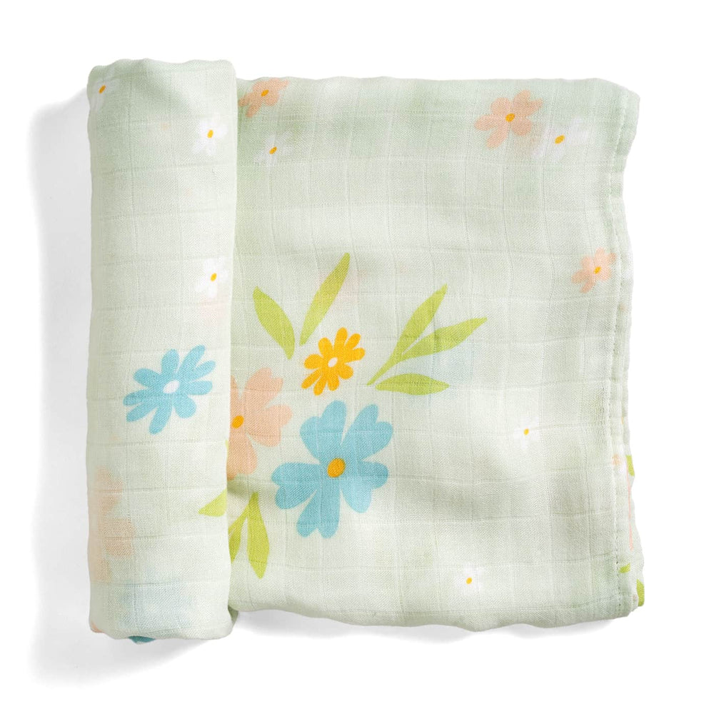 Enchanted Meadow bamboo swaddle