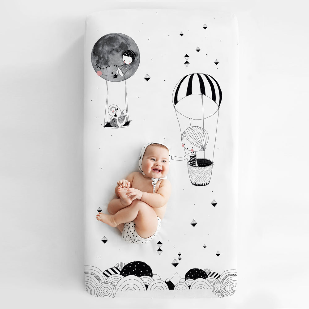 Frieda & The Balloon 60x120cm Cot Sheet