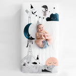 The Moon's Birthday Organic Standard Size Crib Sheet