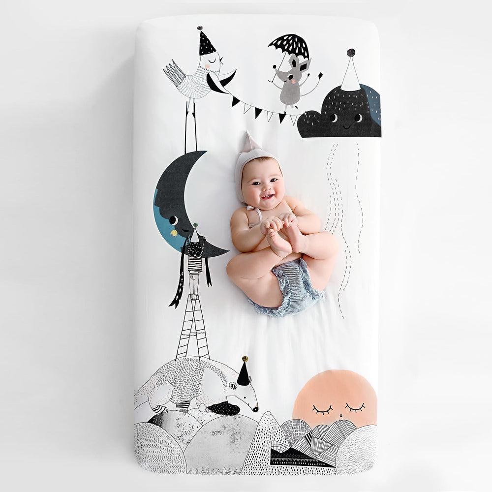 The Moon's Birthday Standard Size Crib Sheet