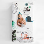 Underwater Love Standard Size Crib Sheet