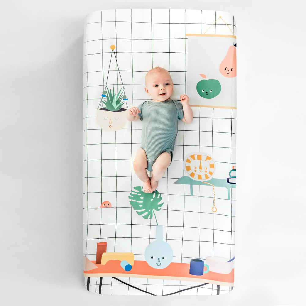 Baby's Room Standard Size Crib Sheet