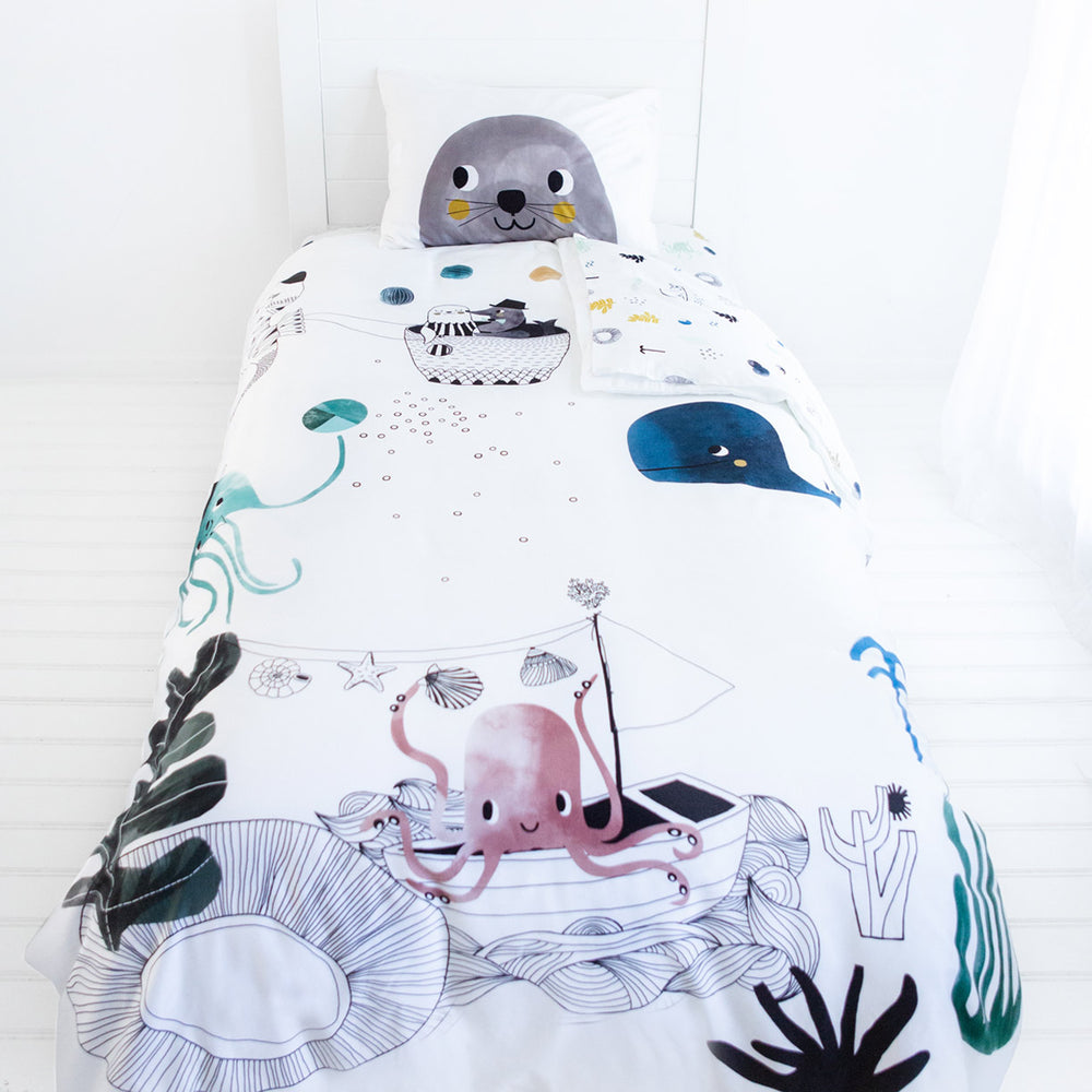 Underwater Love Twin Size Bedding Set